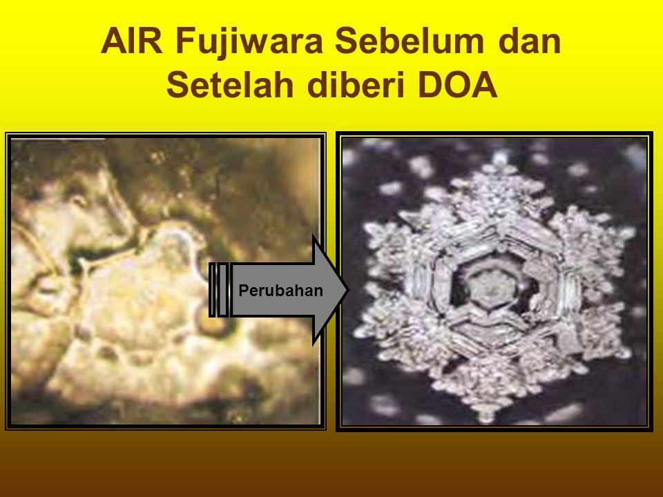 AIR Fujiwara Sebelum dan Setelah diberi DOA Perubahan
