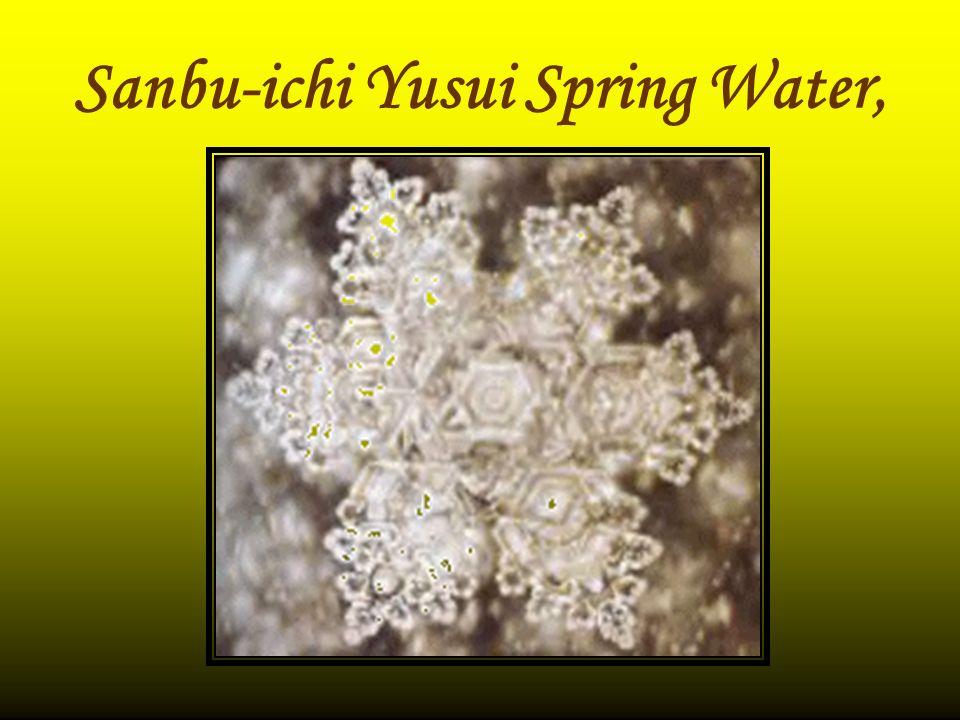 Sanbu-ichi Yusui Spring Water,