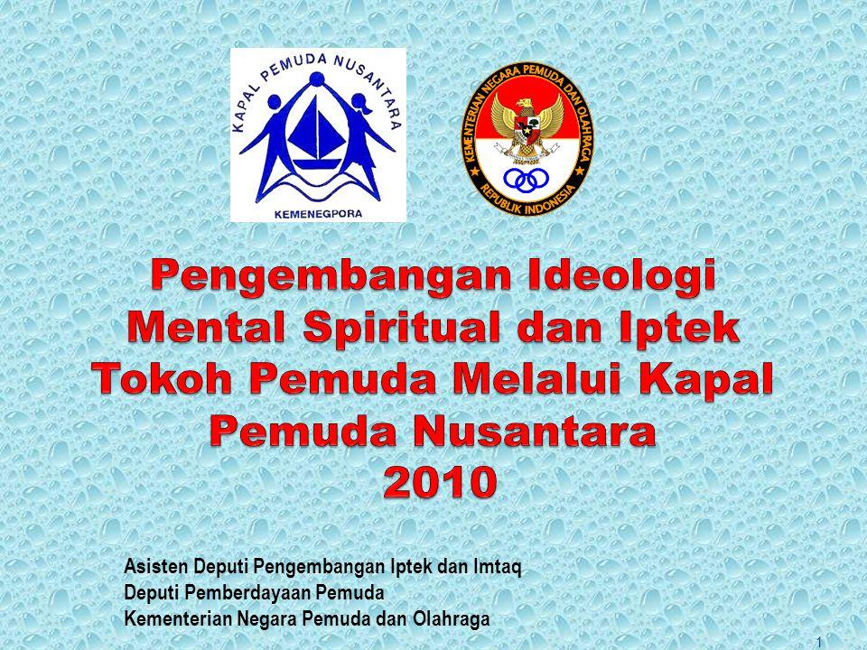 Asisten Deputi Pengembangan Iptek dan Imtaq Deputi Pemberdayaan Pemuda Kementerian Negara Pemuda dan Olahraga 1