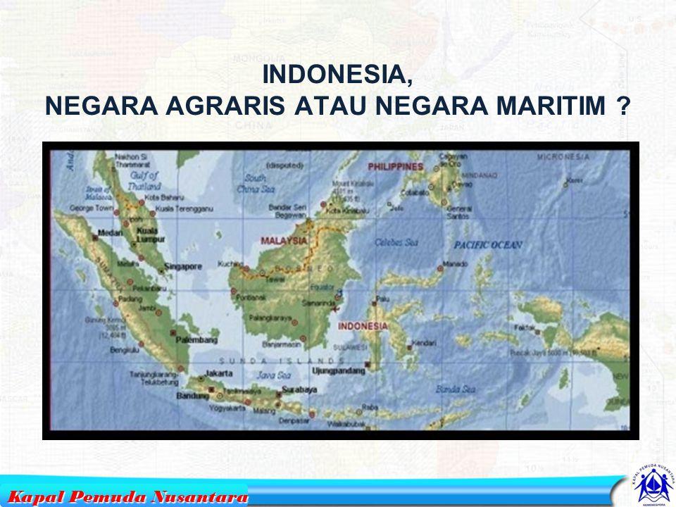 POTENSI PEMUDA 12 TAHUNPENDUDUKPEMUDA 2010233 juta71 juta 2015247 juta69 juta Sumber : Biro Pusat Statistik Kapal Pemuda Nusantara