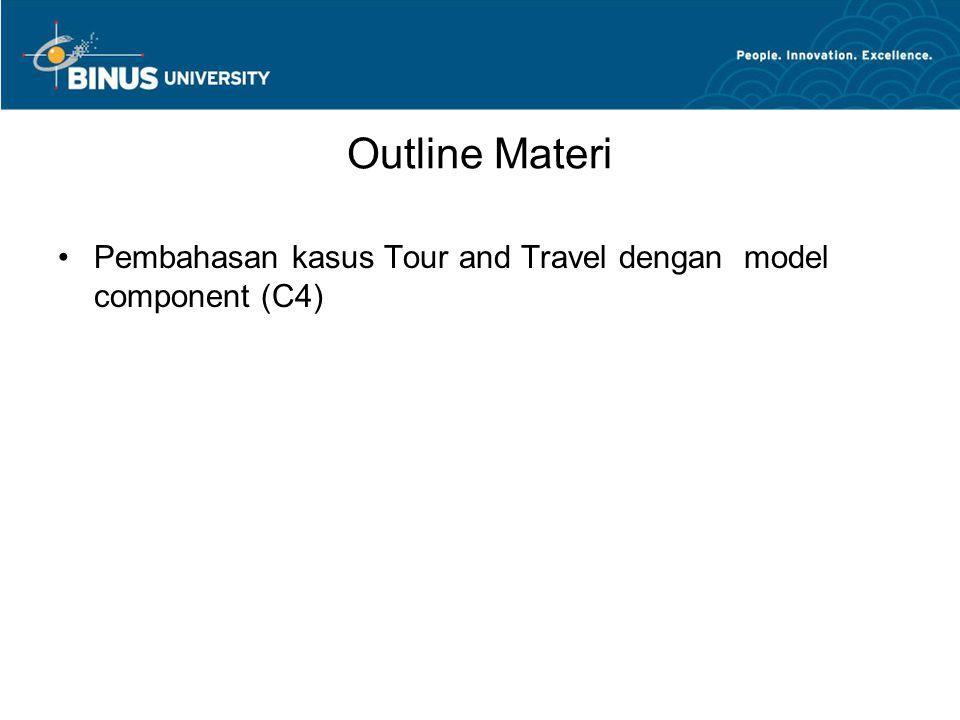 Outline Materi Pembahasan kasus Tour and Travel dengan model component (C4)