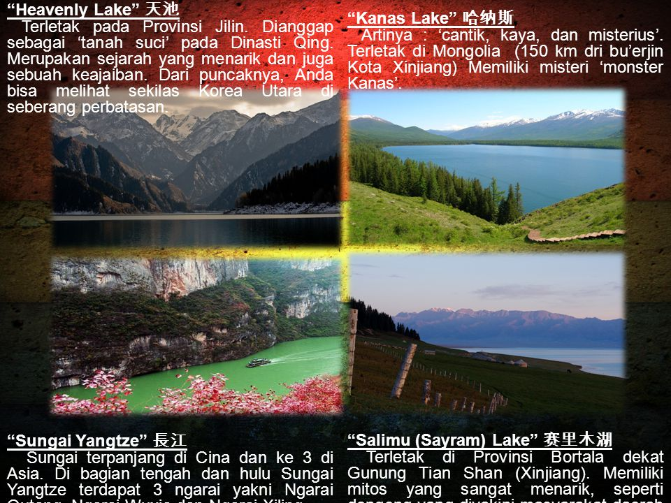 """Heavenly Lake"" 天池 Terletak pada Provinsi Jilin. Dianggap sebagai 'tanah suci' pada Dinasti Qing. Merupakan sejarah yang menarik dan juga sebuah keaja"