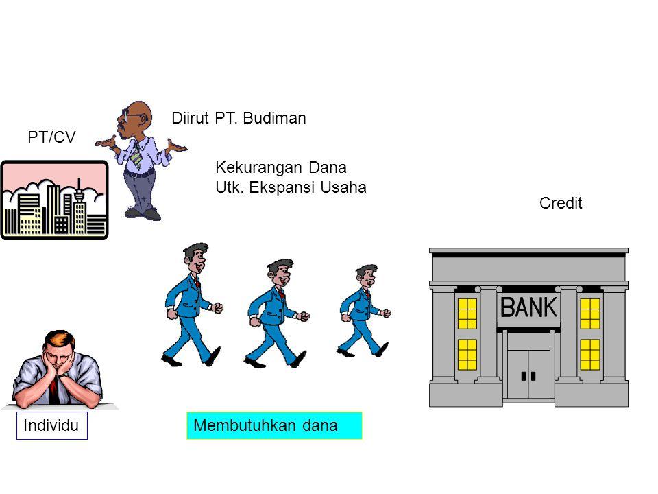 Membutuhkan dana PT/CV Individu Credit Diirut PT. Budiman Kekurangan Dana Utk. Ekspansi Usaha