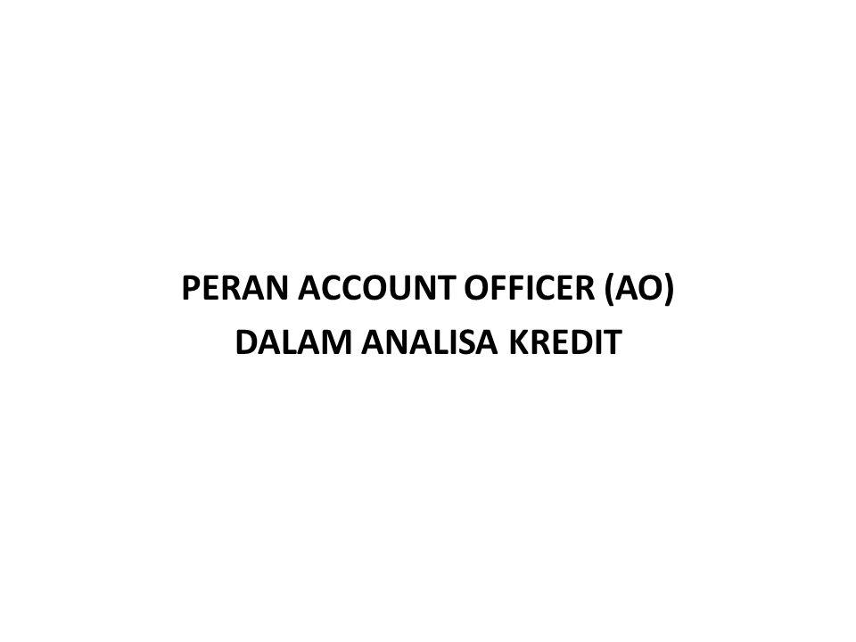 PERAN ACCOUNT OFFICER (AO) DALAM ANALISA KREDIT