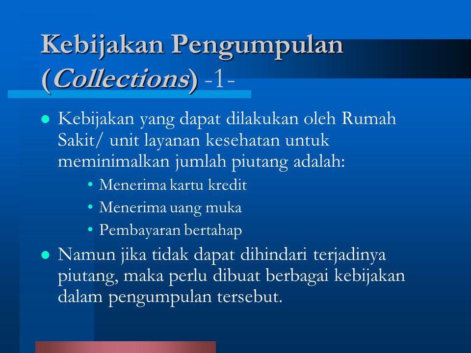 Kebijakan Pengumpulan (Collections) Kebijakan Pengumpulan (Collections) -1- Kebijakan yang dapat dilakukan oleh Rumah Sakit/ unit layanan kesehatan un