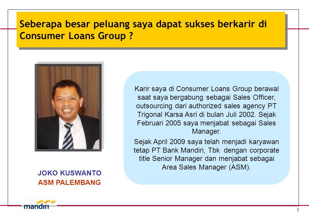 3 Seberapa besar peluang saya dapat sukses berkarir di Consumer Loans Group .