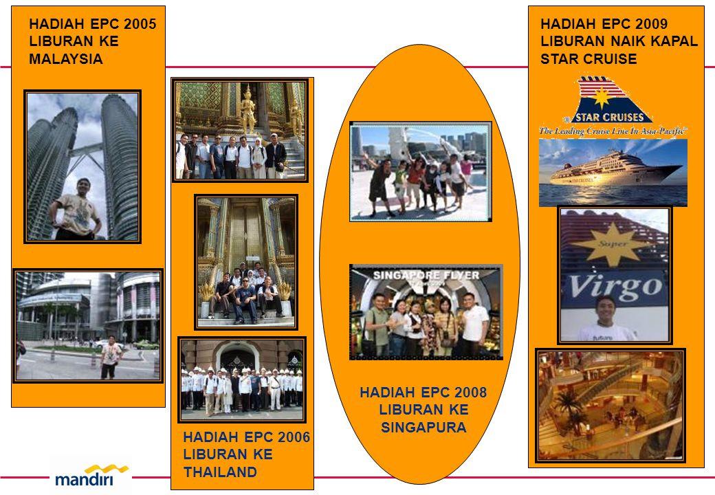 HADIAH EPC 2005 LIBURAN KE MALAYSIA HADIAH EPC 2006 LIBURAN KE THAILAND HADIAH EPC 2008 LIBURAN KE SINGAPURA HADIAH EPC 2009 LIBURAN NAIK KAPAL STAR CRUISE