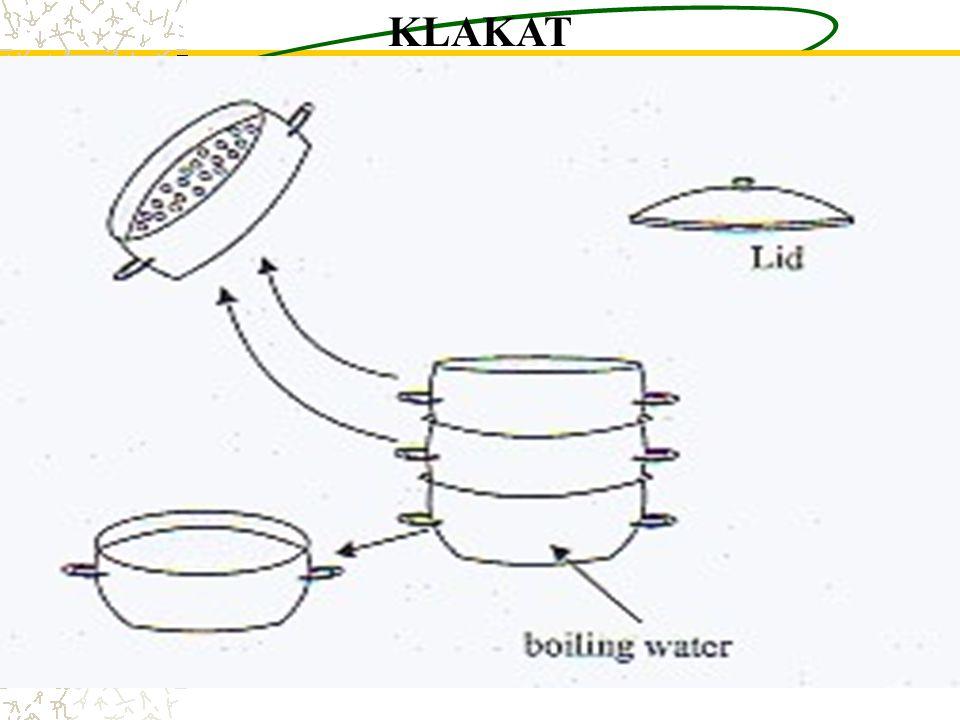 Disinfeksi Tingkat Tinggi Rebus instrumen dalam air selama 20 menit,simpan dlm wadah DTT. Uap instrumen selama 20 menit dan biarkan mengering 1-2 jam