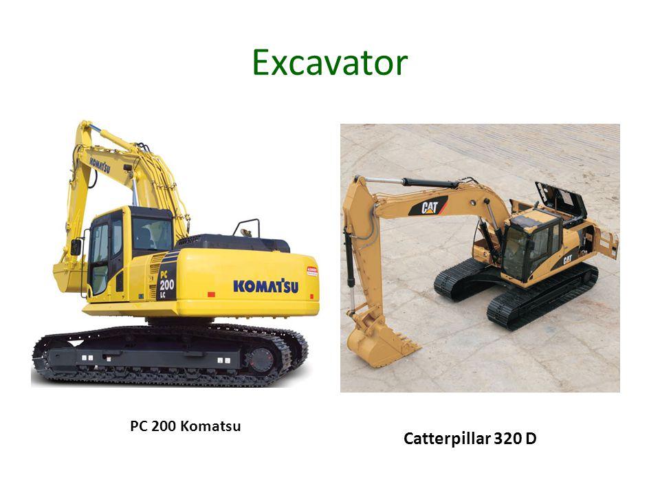 Excavator PC 200 Komatsu Catterpillar 320 D