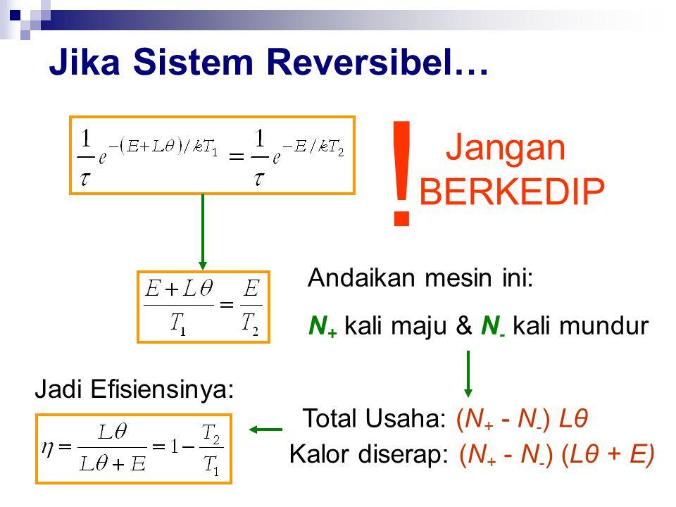 Jika Sistem Reversibel… .