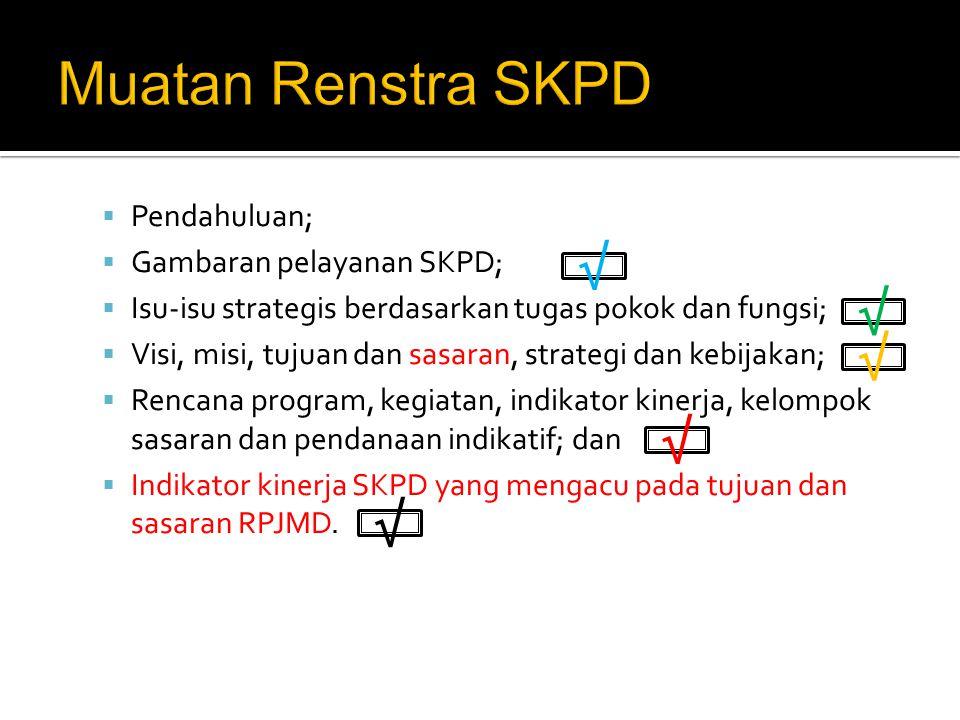 No.Visi Pokok- pokok visi Stakeholder layanan Misi SKPD lain Pengguna layanan Pelaku EkonomiLainnya (√)Rincian misi(x)-(√) Rincian misi (√) Rincian misi Perumusan Misi √