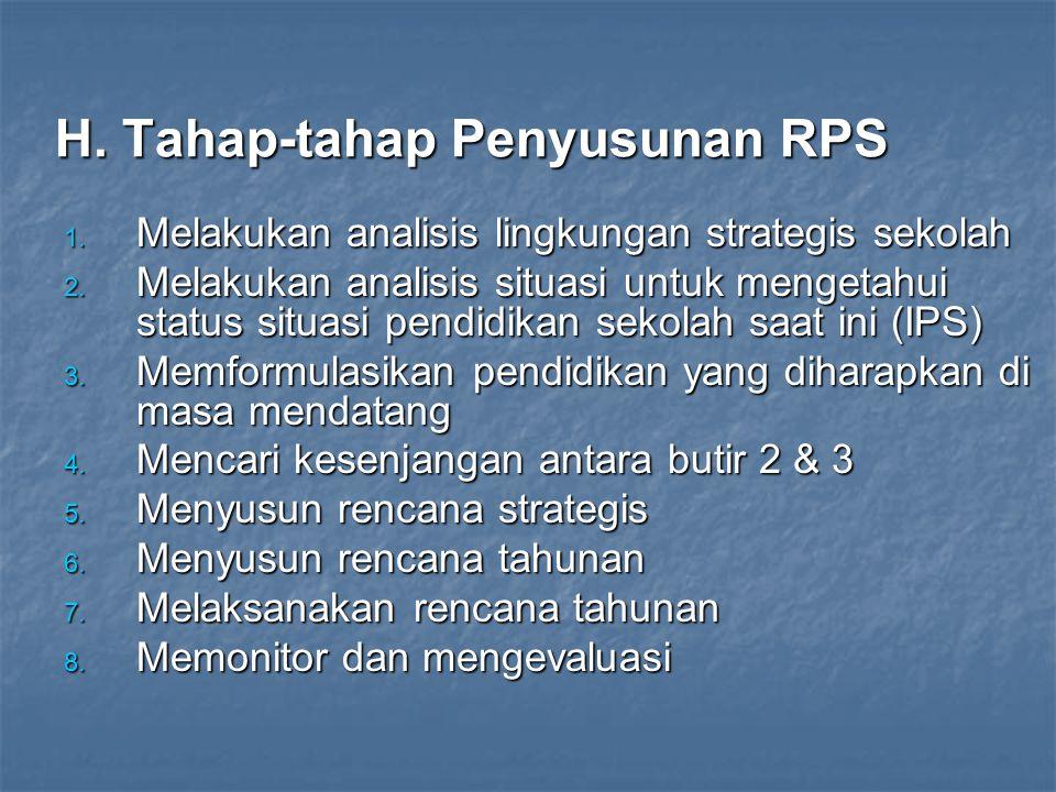 G. Prinsip-Prinsip Penyusunan RPS Penyusunan RPS menerapkan prinsip-prinsip: memperbaiki prestasi belajar siswa, membawa perubahan yang lebih baik (pe