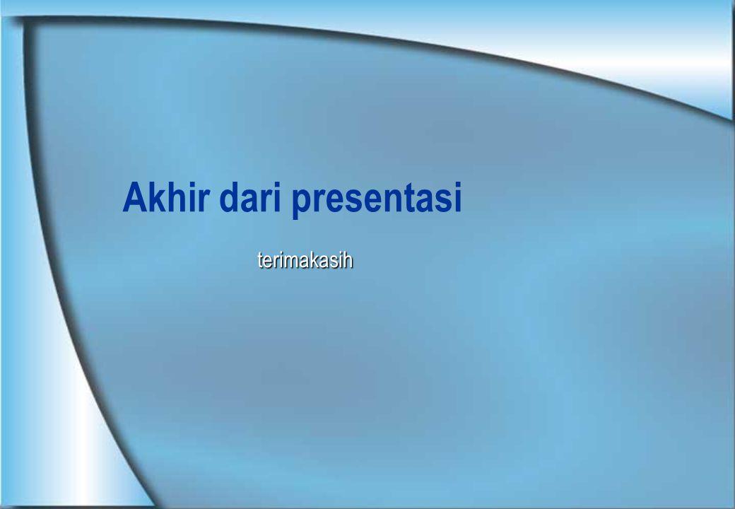 Akhir dari presentasi terimakasih