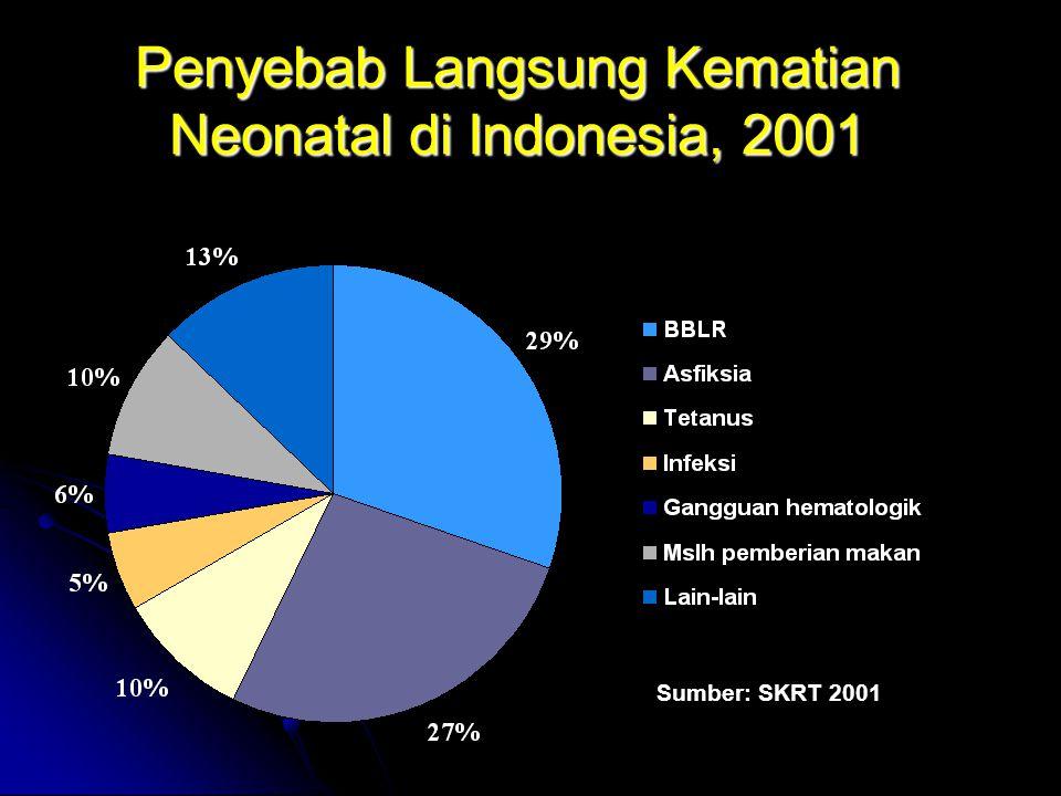 Penyebab Langsung Kematian Neonatal di Indonesia, 2001 Sumber: SKRT 2001