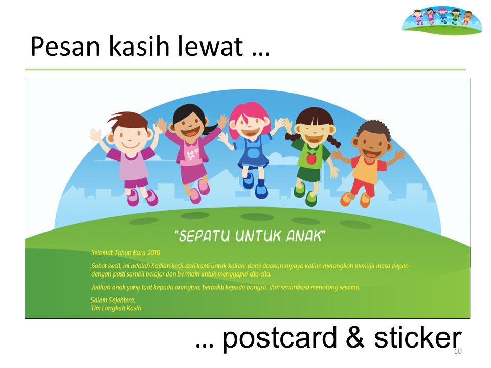 10 Pesan kasih lewat … … postcard & sticker