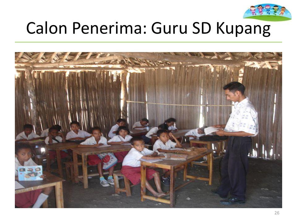 Calon Penerima: Guru SD Kupang 26