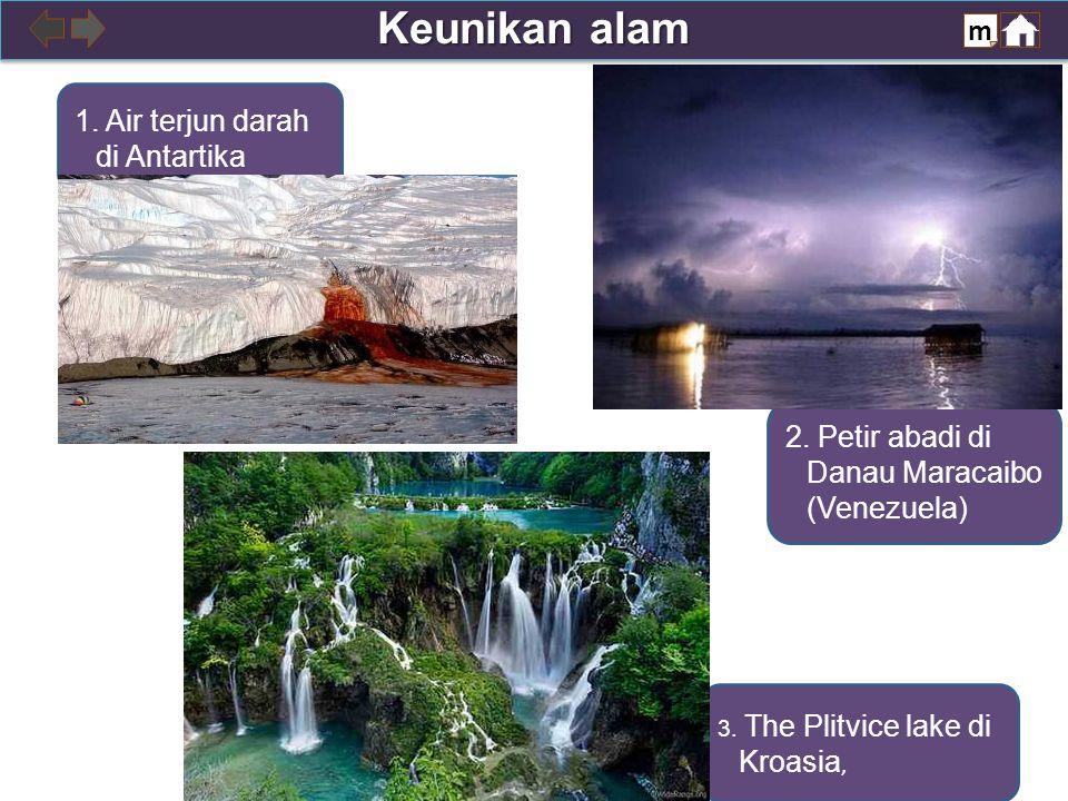 3. The Plitvice lake di Kroasia, 2. Petir abadi di Danau Maracaibo (Venezuela) 1.