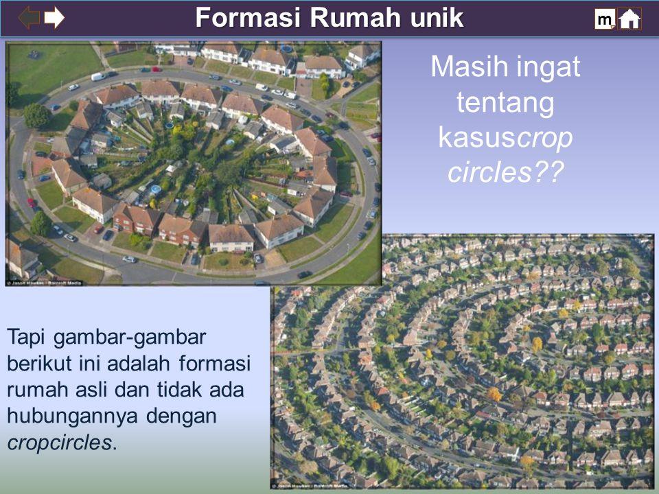 Formasi Rumah unik m Masih ingat tentang kasuscrop circles?.