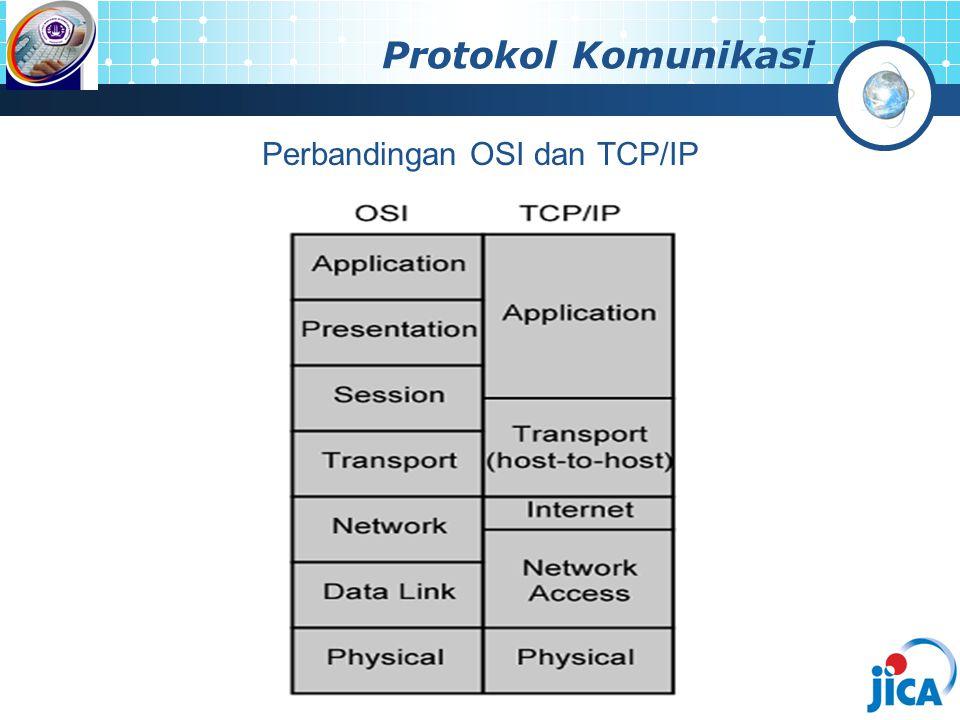 Protokol Komunikasi Perbandingan OSI dan TCP/IP