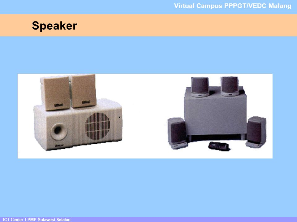 Speaker ICT Center LPMP Sulawesi Selatan Virtual Campus PPPGT/VEDC Malang