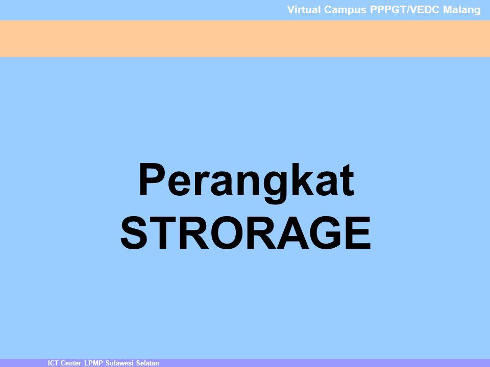 ICT Center LPMP Sulawesi Selatan Virtual Campus PPPGT/VEDC Malang Perangkat STRORAGE