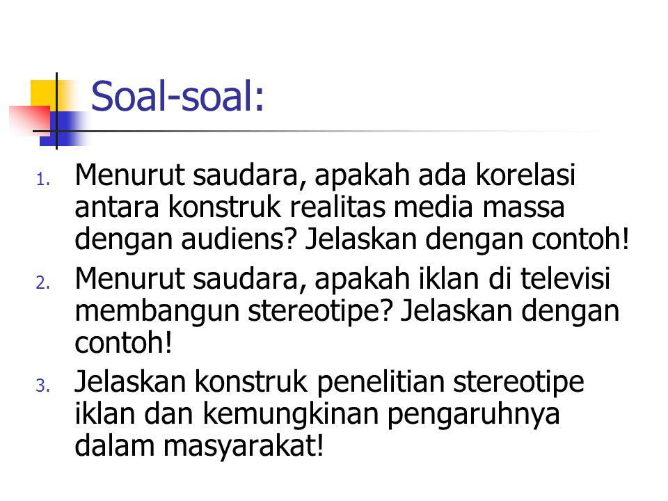 Soal-soal: 1.