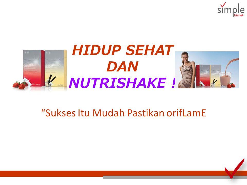Keunikan NutriShake Berbahan dasar nutrisi alami yang murni dan seimbang Mengandung 3 sumber protein optimal Telah dikaji secara klinis sebagai penurun berat badan yang aman, alami, efektif dan berkelanjutan.