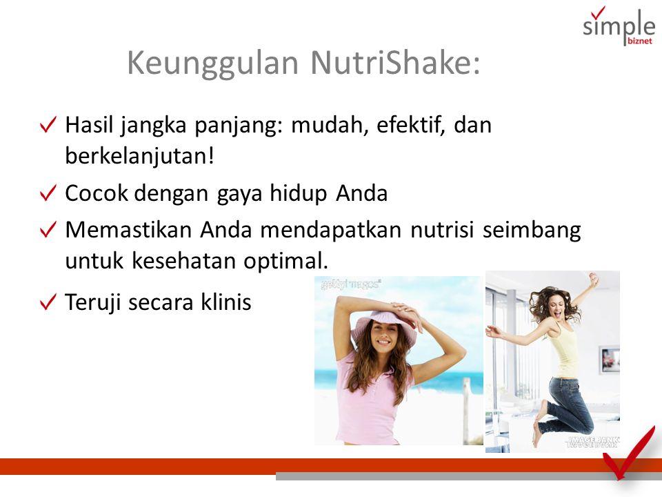 Keunggulan NutriShake: Hasil jangka panjang: mudah, efektif, dan berkelanjutan! Cocok dengan gaya hidup Anda Memastikan Anda mendapatkan nutrisi seimb