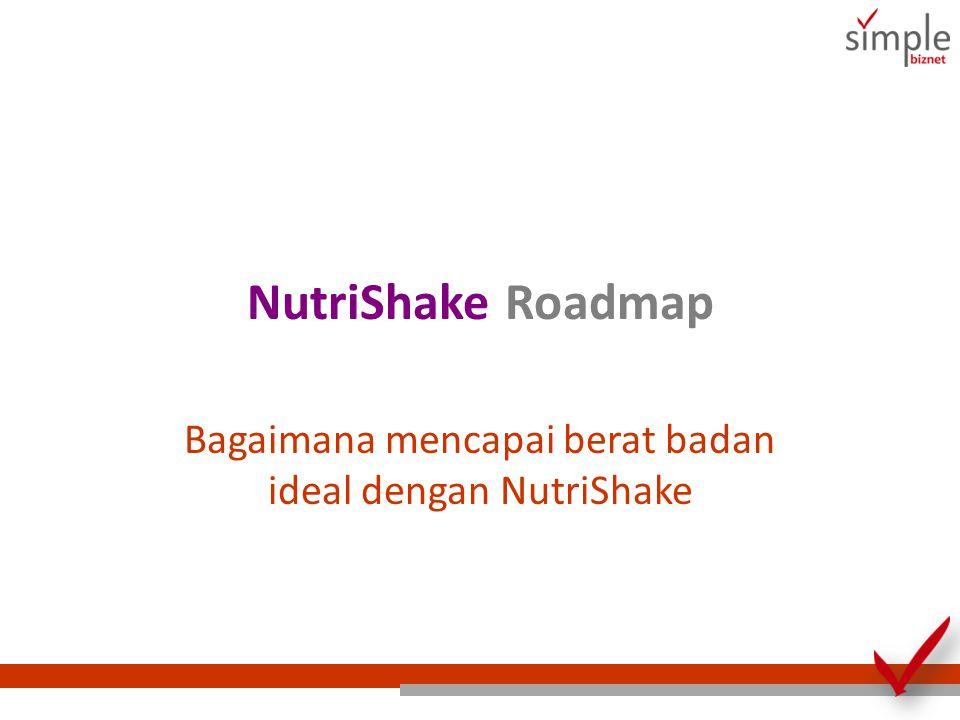 NutriShake Roadmap Bagaimana mencapai berat badan ideal dengan NutriShake