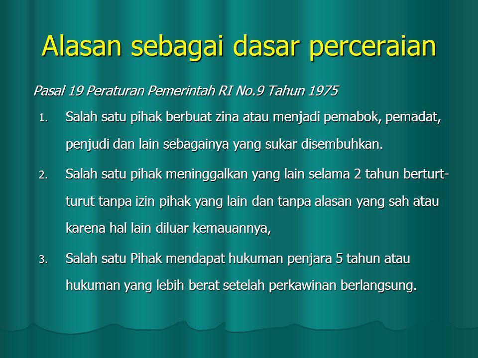 Pasal 19 Peraturan Pemerintah RI No.9 Tahun 1975 1.