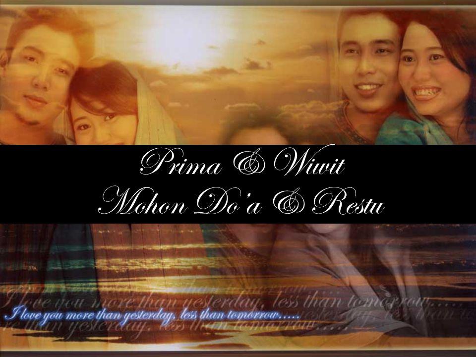 Prima & Wiwit Mohon Do'a & Restu
