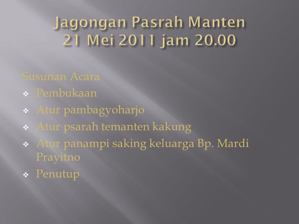 19 Mei 2011 Jam 15.00 Kembali