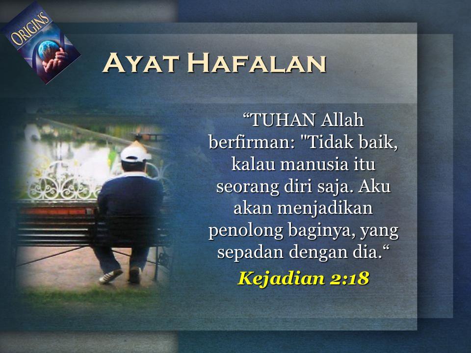 """""""TUHAN Allah berfirman:"""