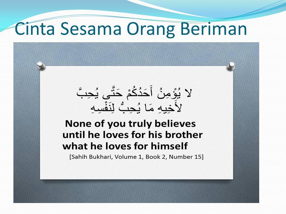 Cinta Sesama Orang Beriman