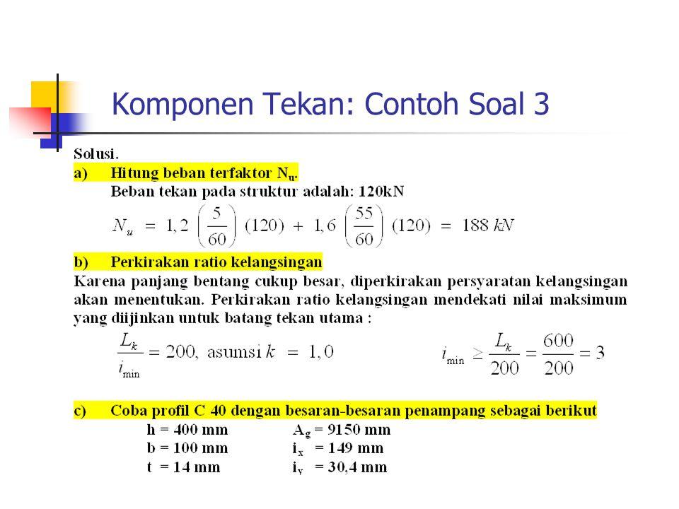 Komponen Tekan: Contoh Soal 3