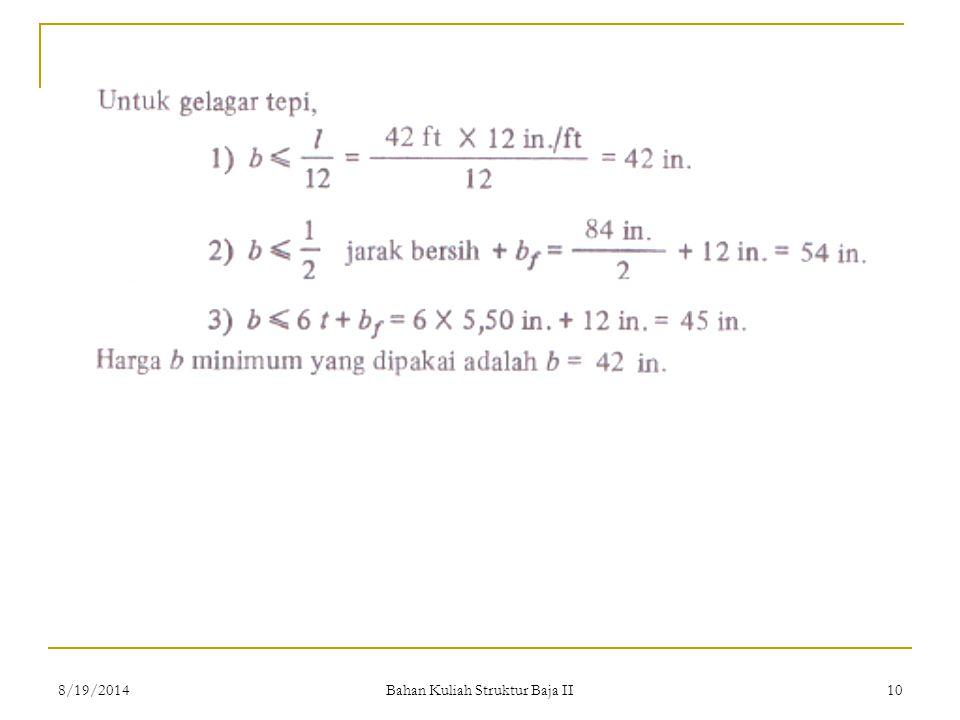 Bahan Kuliah Struktur Baja II 108/19/2014