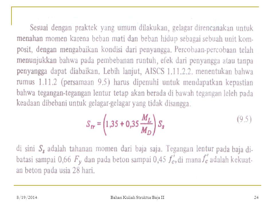 Bahan Kuliah Struktur Baja II 248/19/2014