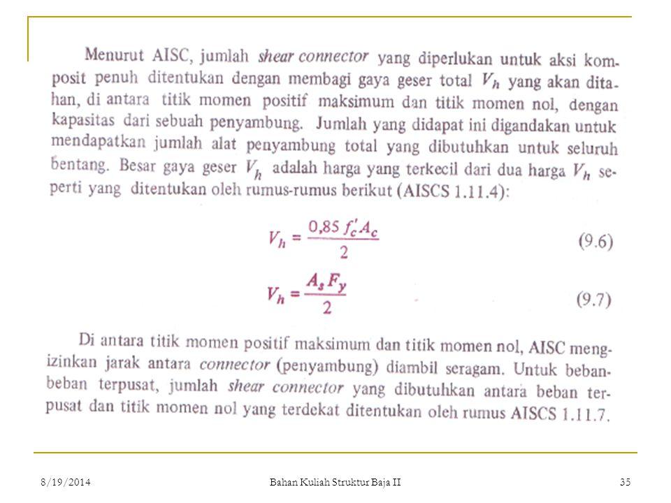 Bahan Kuliah Struktur Baja II 358/19/2014
