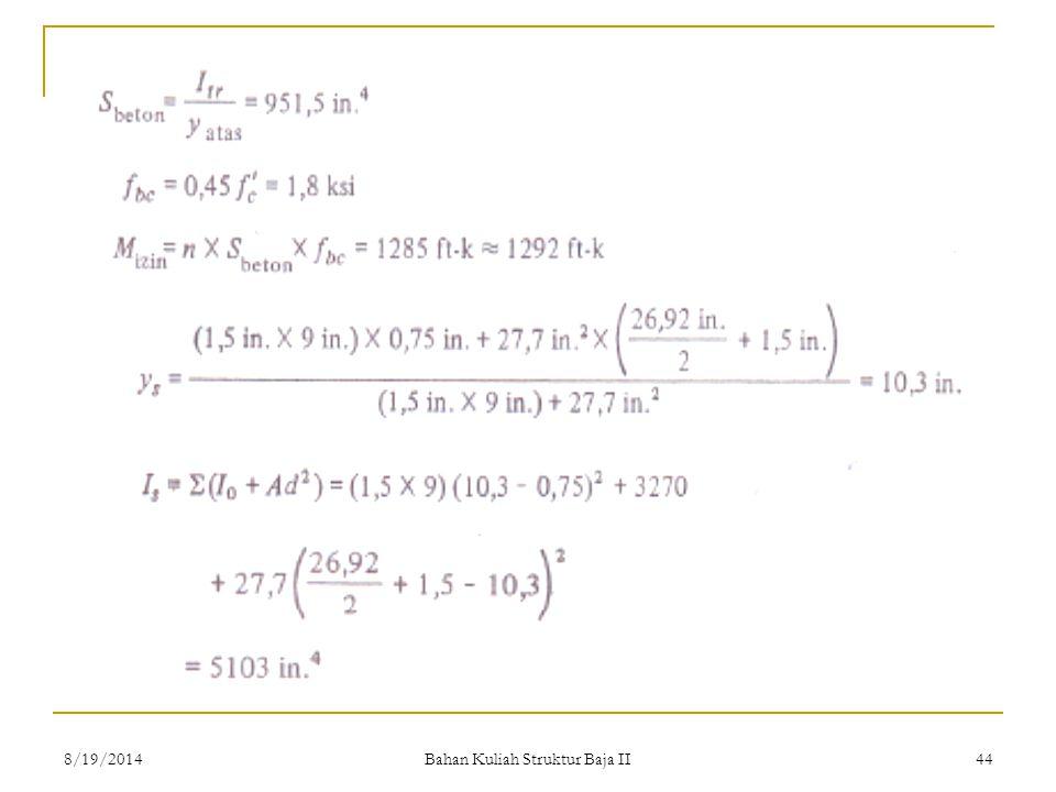 Bahan Kuliah Struktur Baja II 448/19/2014