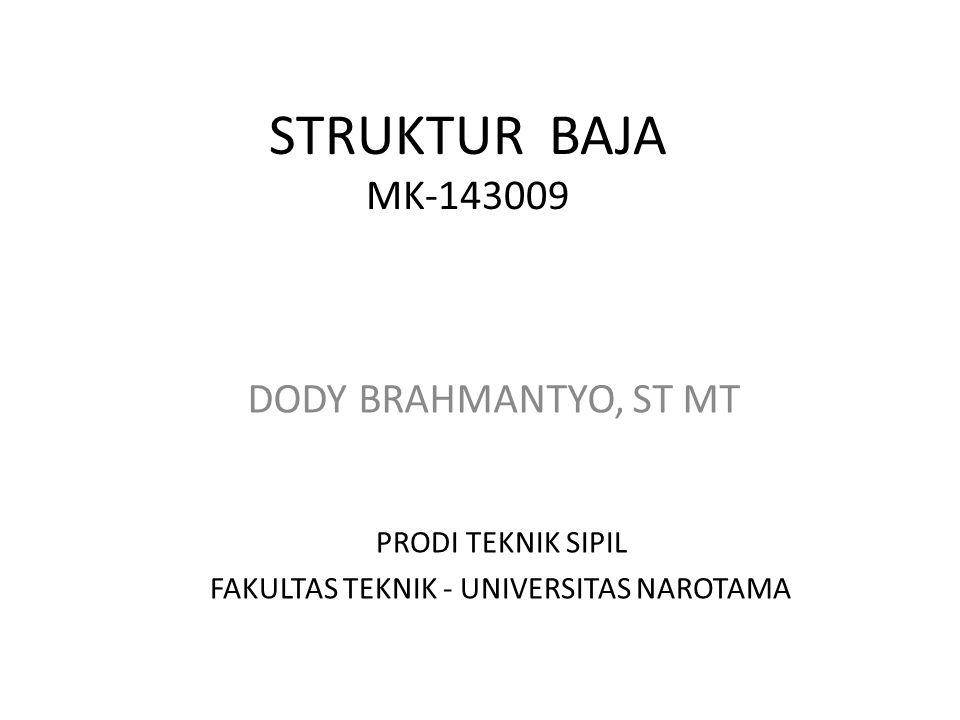 STRUKTUR BAJA MK-143009 DODY BRAHMANTYO, ST MT PRODI TEKNIK SIPIL FAKULTAS TEKNIK - UNIVERSITAS NAROTAMA