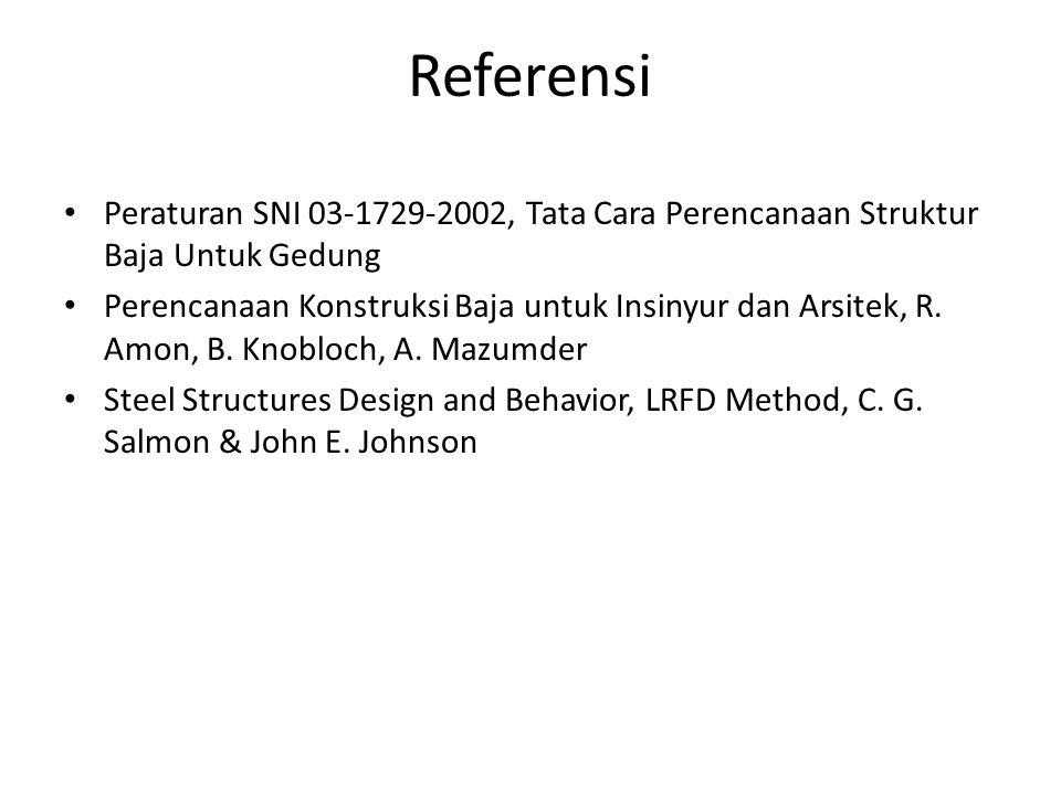 Referensi Peraturan SNI 03-1729-2002, Tata Cara Perencanaan Struktur Baja Untuk Gedung Perencanaan Konstruksi Baja untuk Insinyur dan Arsitek, R. Amon