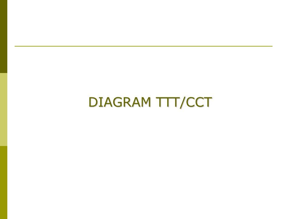 EHW 98 DIAGRAM TTT/CCT --Digunakan untuk mengetahui mikrostuktur yang terbentuk pada pendinginan non-ekuilibrium Log waktu Temperatur °C A1A1 Austenite A3A3 MsMs Ferrite +Pearlite A+F Nose Bainite  MfMf Start Finish Martensite + 