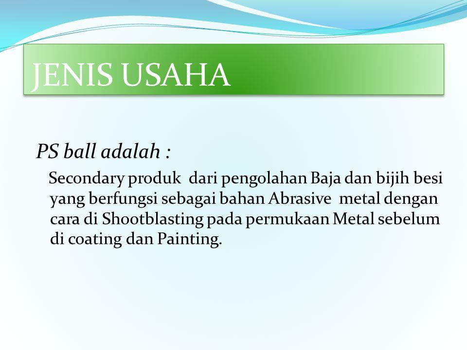 JENIS USAHA - General Supply : Sebagai Main Distributor Produk PS Ball Wilayah Bekasi, Jakarta, Karawang,Bogor, dan Tangerang, - Fabrikasi - Kontruksi