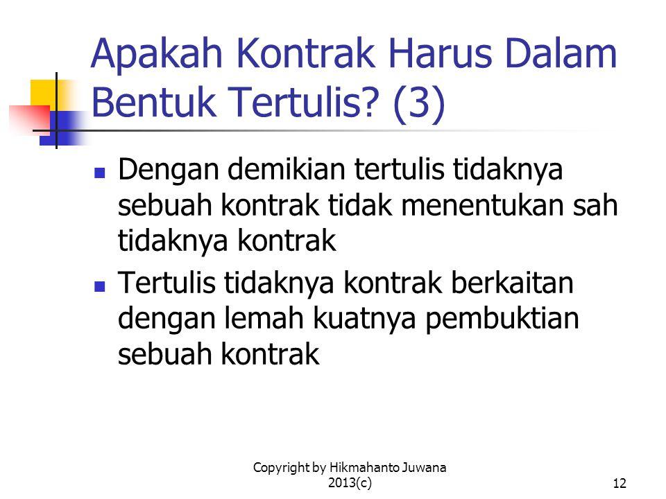 Copyright by Hikmahanto Juwana 2013(c)13 Bagaimana dengan Materai.