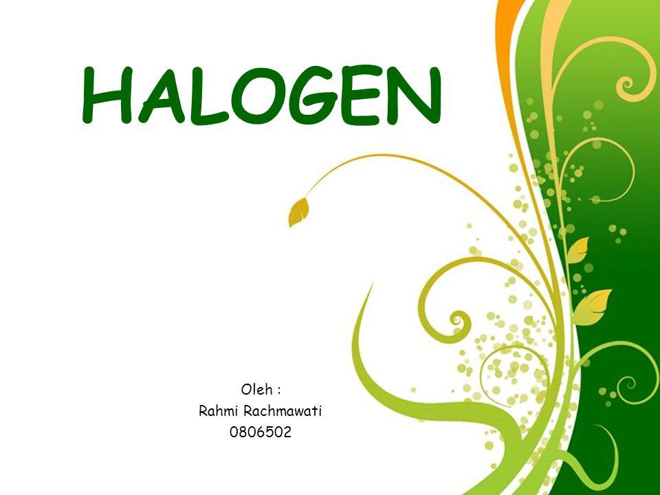 Free Powerpoint Templates Page 12 REAKSI-REAKSI HALOGEN HHalogen dapat bereaksi dengan hampir semua unsur, baik unsur logam maupun nonlogam.