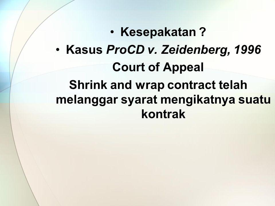 Kesepakatan .Kasus ProCD v.