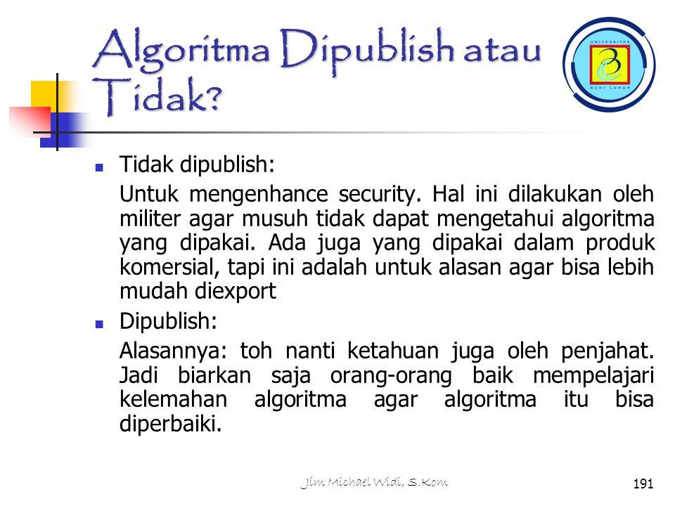 Algoritma Dipublish atau Tidak.Tidak dipublish: Untuk mengenhance security.