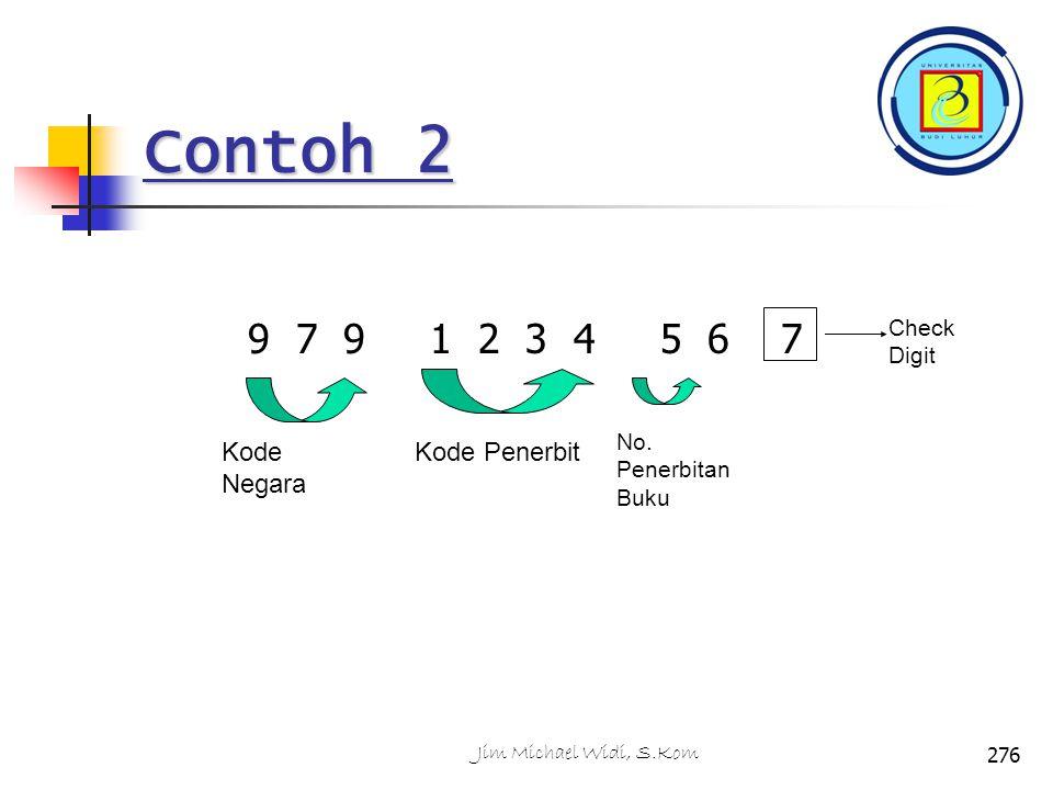 Contoh 2 9 7 9 1 2 3 4 5 6 7 Check Digit Kode Negara Kode Penerbit No.