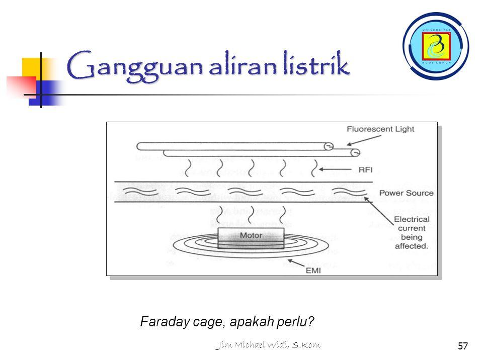 Jim Michael Widi, S.Kom57 Gangguan aliran listrik Faraday cage, apakah perlu?