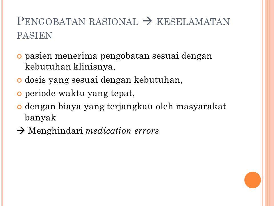 S TRATEGI MENGURANGI RISIKO MEDICATION ERROR DI UGD 4.